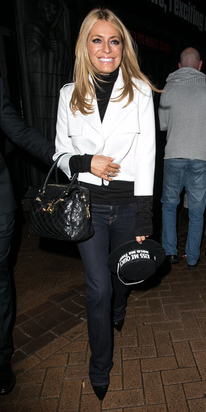Tess Daly enjoys the Strictly Come Dancing afterparty at Blackpool, 21 November 2015.