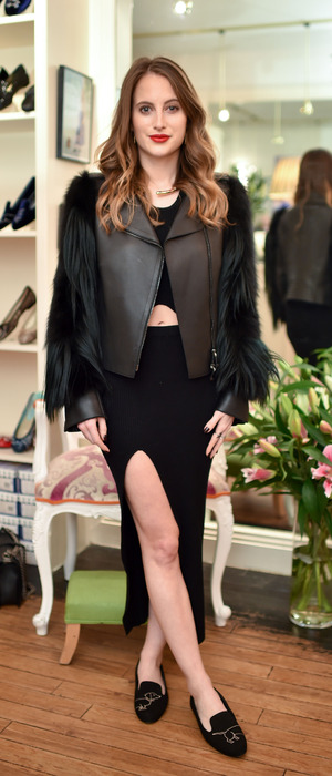 MIC's Rosie Fortescue attends the 'Little Dax' slipper launch in aid of Battersea Dogs & Cats Home at French Sole, London, 19th November 2015