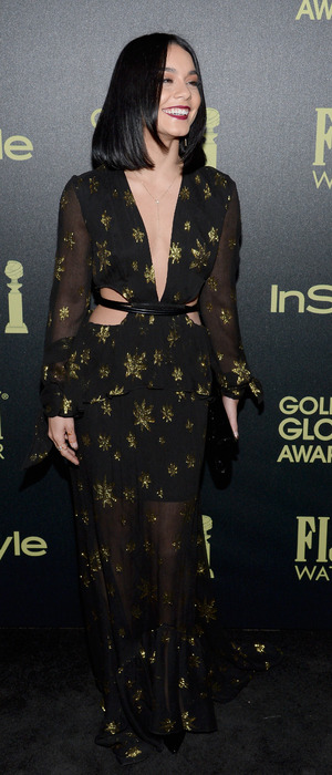 Vanessa Hudgens attends the Hollywood Foreign Press Association and InStyle celebrate the 2016 Golden Globe Award Season event in Los Angeles, America, 18th November 2015
