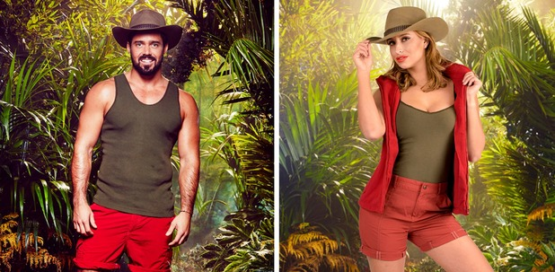 I'm A Celebrity 2015 late camp arrival: Ferne McCann and Spencer Matthews collage. November 2015.
