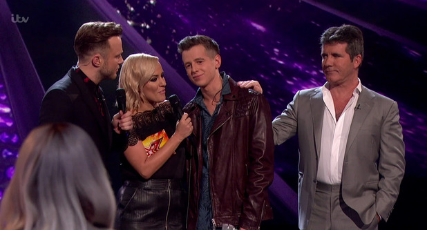 Max Stone is eliminated from The X Factor, ITV 15 November