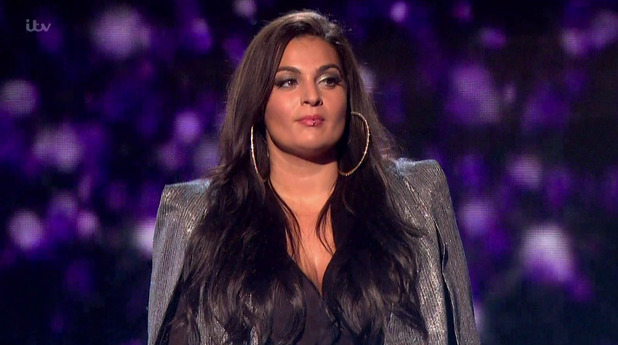 Monica Michael performing 'Broken Hearted Girl' in the sing-off, on the results show of The X Factor - 15 November 2015.