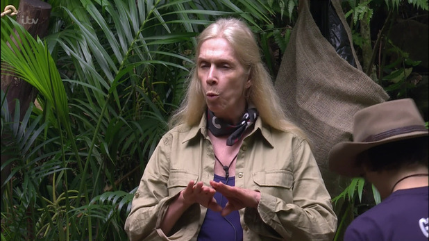 I'm a Celebrity... Get Me Out of Here! Lady C in camp. 18 November 2015.