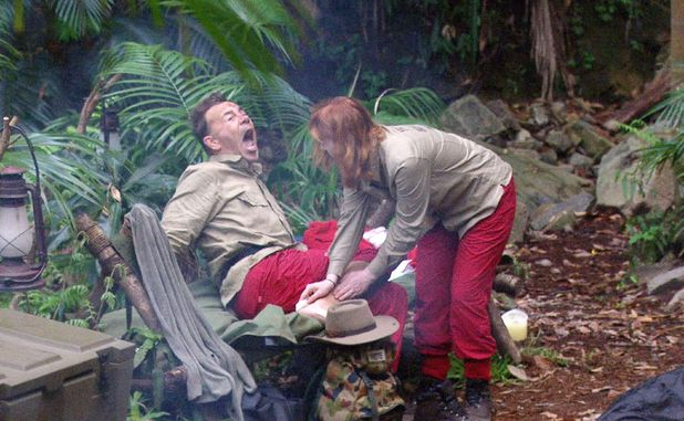 I'm A Celebrity...Get Me Out Of Here!' TV Show, Australia - 17 Nov 2015 Yvette Fielding puts a plaster on the blister of Duncan Bannatyne.