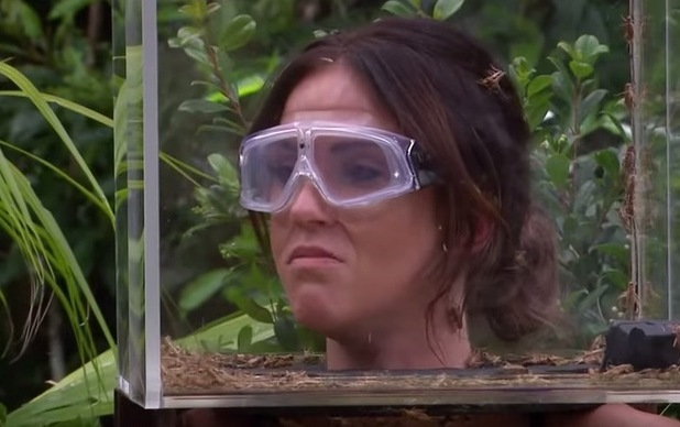 Vicky Pattison screams and squeals in her first Bushtucker Trial - Dicing With Danger. I'm A Celebrity...Get Me Out Of Here!  - 19 November 2015.