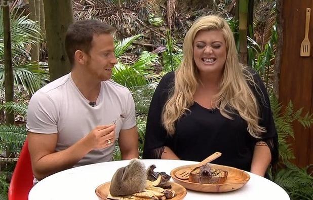 Gemma Collins and Joe Swash take part in Disaster Chef Bushtucker trial, I'm A Celebrity... Get Me Out Of Here Now! 16 November