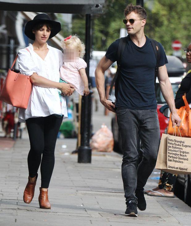 Jamie Dornan and pregnant wife Amelia Warner, 1 September 2015.