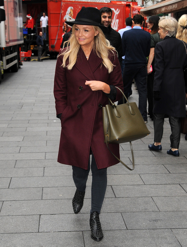 Emma Bunton heads to London's Leicester Square, 17th November 2015