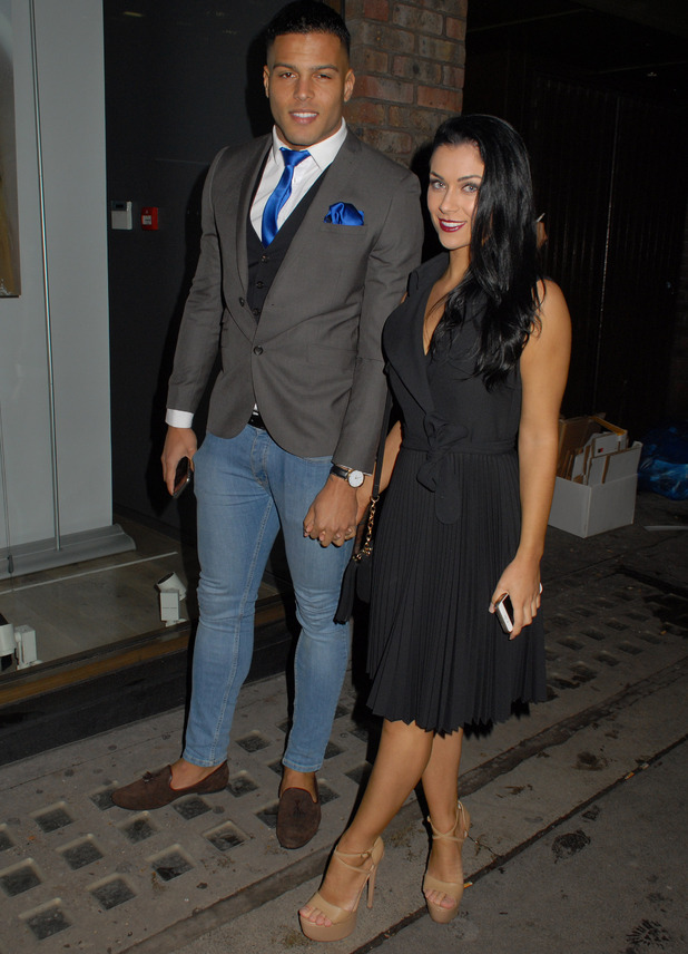 Luis Morrison and Cally Jane Beech attend Sugababes modelling agency launch, London 18 November