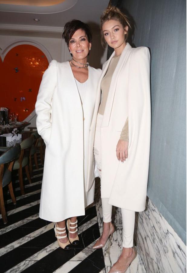 Kris Jenner and Gigi Hadid at the Monica Rose X Sarah Chloe: Chloe Jewelry launch, Los Angeles, 20th November 2015