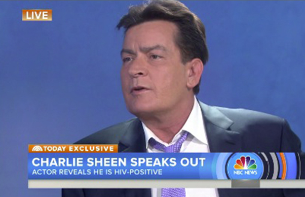 Charlie Sheen speaks to Today