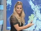 Katie Price turns weather presenter on Good Morning Britain