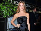 Millie Mackintosh braves the cold in strapless LBD with furry detail