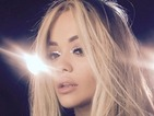 Rita Ora sexes it up with silver foil eye make-up that we WANT!