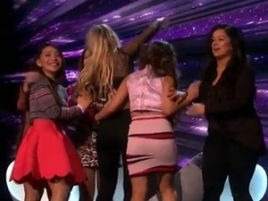 X Factor: Lauren Murray and 4th Impact. 22 November 2015.