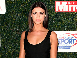 Lucy Mecklenburgh is beautiful in simple yet chic black at Pride of Sport