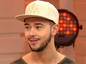 X Factor star Mason Noise on Good Morning Britain. 21 November 2015.