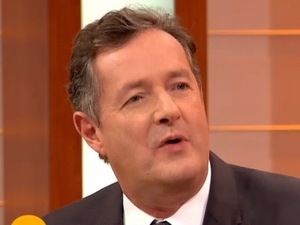 Piers Morgan grills X Factor star Mason Noise on Good Morning Britain. 21 November 2015.