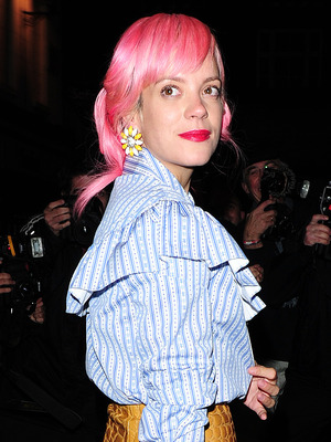Lily Allen, LOVE Magazine London Fashion Week party held at Lulu's attracted many top models last night who partied into the early hours, 22 September 2015