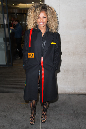 Fleur East pictured arriving at the Radio 1 studio to perform on the Live Lounge in London, 24th November 2015