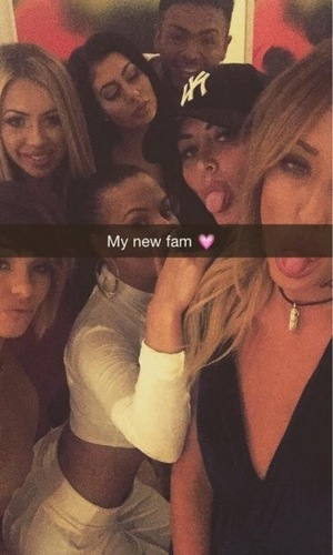 Chantelle Connelly new girl to Geordie Shore poses with co-stars 22 November