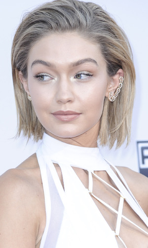 Gigi Hadid on the red carpet at the American Music Awards 2015, 23rd November 2015