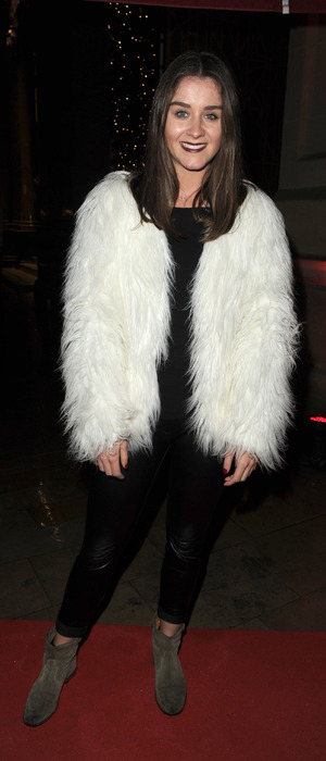 Brooke Vincent out and about in Manchester, seen outside Vapiano restaurant, 27th November 2015