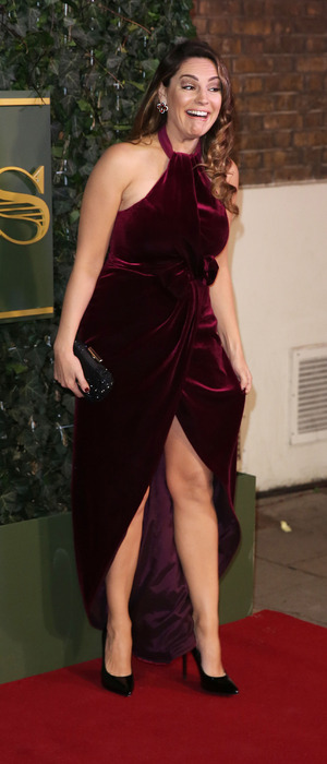 Kelly Brook seen on the red carpet at the Evening Standard Theatre Awards held at the Old Vic, in London 23rd November 2015