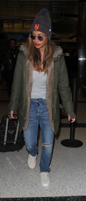 Singer Nicole Scherzinger spotted arriving at L.A.X Airport in Los Angeles, 26th November 2015