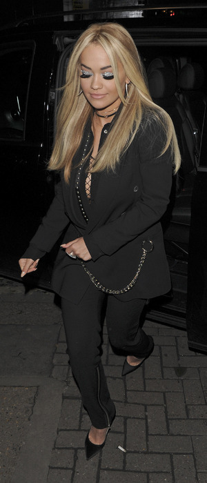 Rita Ora pictured arriving at China White in Mayfair for birthday celebrations, 25th November 2015