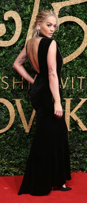 Rita Ora attends The British Fashion Awards sponsored by Swarovski, London Coliseum, 24th November 2015