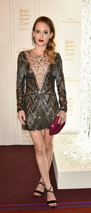 Made in Chelsea's Rosie Fortescue at The British Fashion Awards sponsored by Swarovski, London Coliseum, 24th November 2015