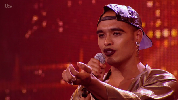 Seann Miley Moore singing 'I (Who Have Nothing).' on the Boys 6 Chair Challenge edition of 'The X Factor' - 11 October 2015.
