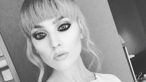 Little Mix's Perrie Edwards shows off new fringe, 28 November 2015.