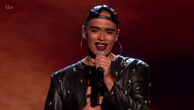 The X Factor - Seann Miley Moore performing. 8 November 2015.