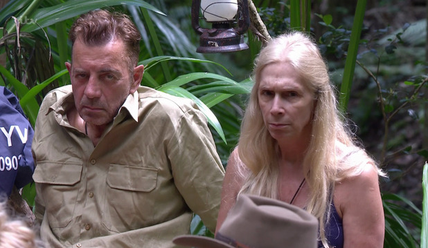 Duncan Bannatyne and Lady Colin Campbell on 'I'm a Celebrity... Get Me Out of Here!' Broadcast on ITV1 HD. 18 November 2015.