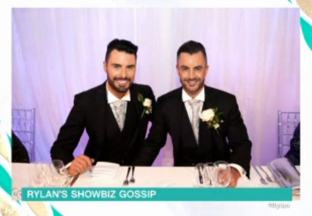 Rylan Clark shares wedding picture on This Morning 23 November 2015