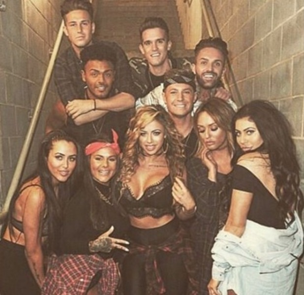 Marnie Simpson with Geordie Shore cast including two new members, Chantelle Connelly and Marty McKenna 22 November