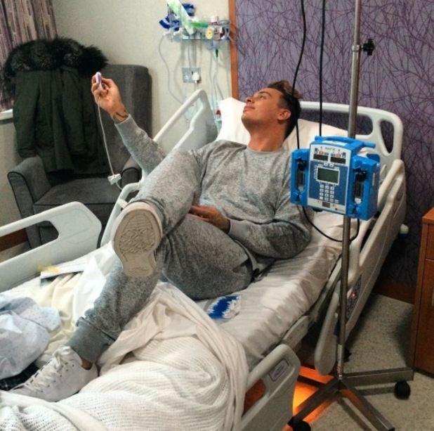 Katie Piper shares picture of make-up artist in her hospital bed, 25th November 2015