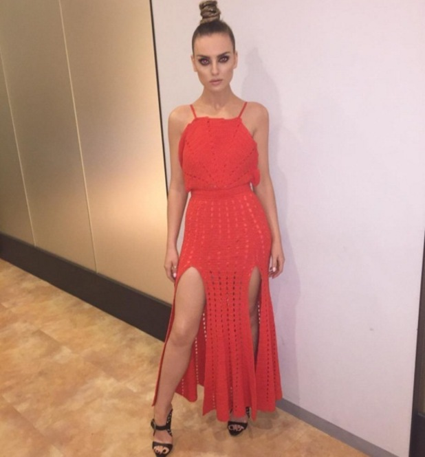 Perrie Edwards in Japan for Little Mix promo 25 November