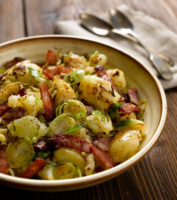 Potato and Brussels sprout crush recipe