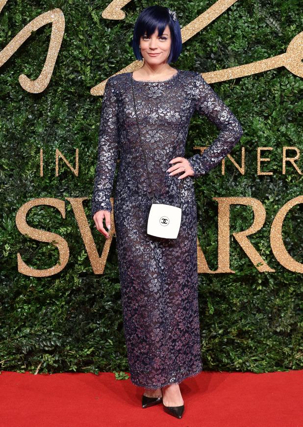 Lily Allen, British Fashion Awards, 23 November 2015