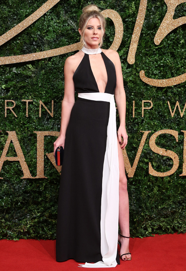 Mollie King on the red carpet at the British Fashion Awards in London, 24th November 2015