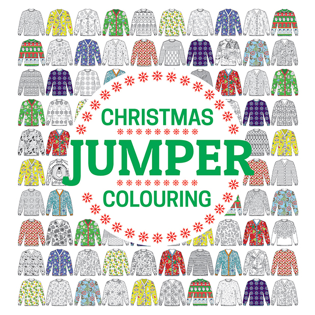 Christmas Jumper Colouring Book from GMC, £4.99