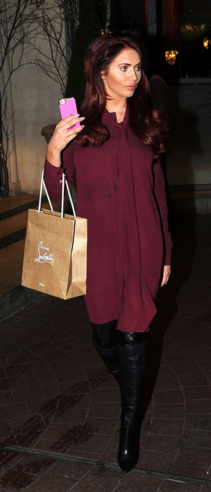 Former TOWIE star Amy Childs pictured outside the Soho Hotel in London, 2nd December 2015