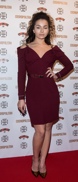 Ella Eyre attends the 2015 Cosmopolitan Ultimate Women of The Year Awards in London, 3rd December 2015