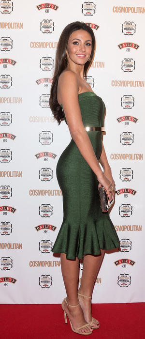 Michelle Keegan at the Cosmopolitan Ultimate Women Of The Year Awards held at One Mayfair, London, 3rd December 2015