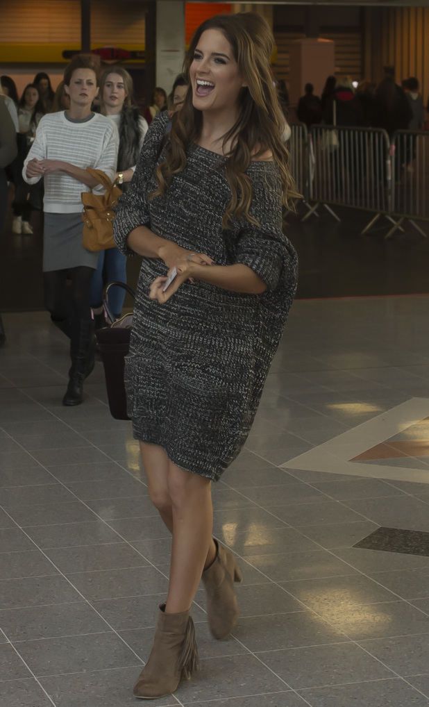 Binky Felstead arrives at The Clothes Show - Day 1 at the NEC Birmingham, 4th December 2015