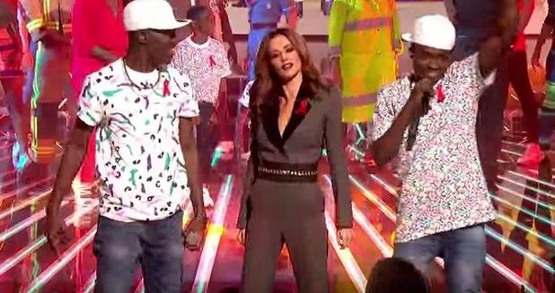 Cheryl Fernandez-Versini and Reggie 'N' Bollie on The X Factor 28 November