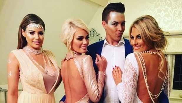 TOWIE stars film Christmas special at Woodhall Manor in Suffolk. 28 November 2015.